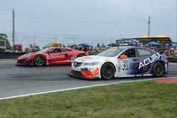 #99 Gainsco/Bob Stallings Racing McLaren 650S GT3: Jon Fogarty, #43 RealTime Racing Acura TLX-GT: Ry