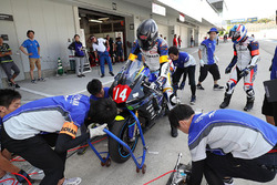 #14 Iwata Racing Family, Yamaha: Motoaki Sawamura, Kazuyuki Nishimura, Takeshi Miyakoshi