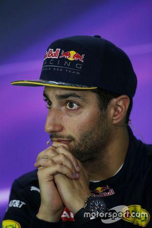 Press conference: third Daniel Ricciardo, Red Bull Racing