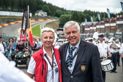 Starting grid, Nathalie Maillet, CEO Spa-Francorchamps; François Cornélis, Président racb at Total S.A.