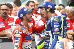 1. Andrea Dovizioso, Ducati Team, 2. Valentino Rossi, Yamaha Factory Racing