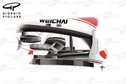 Ferrari SF16-H la skid wing del T-Tray, GP del Messico