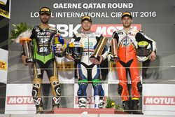 Podium: Race winner Kyle Smith, Honda; second place Kenan Sofuoglu, Puccetti Racing; third place Jules Cluzel, MV Agusta Reparto Corse
