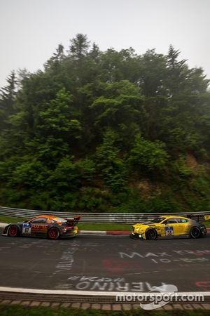 #67 Porsche GT3 MR: Guido Wirtz, Oleg Kvitka; #38 Bentley Team Abt, Bentley Continental GT3: Christi