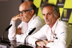 Carmelo Ezpeleta, Dorna-Chef; Franco Uncini, FIM-Sicherheitsbeauftragter