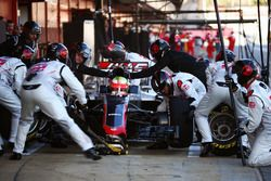 Esteban Gutierrez, Haas F1 Team VF-16 beim Boxenstopptraining