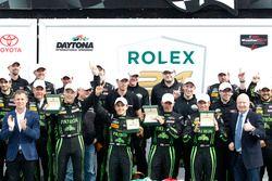Ganador: #2 ESM Racing Honda HPD Ligier JS P2: Scott Sharp, Ed Brown, Johannes van Overbeek, Pipo De