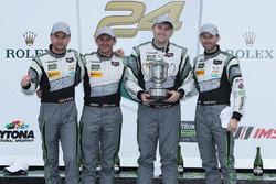 Победители в классе GTD Джон Поттер, Энди Лэлли, Марко Зеефрид и Рене Раст, #44 Magnus Racing Audi R