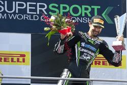 Le vainqueur Randy Krummenacher, Puccetti Racing Kawasaki