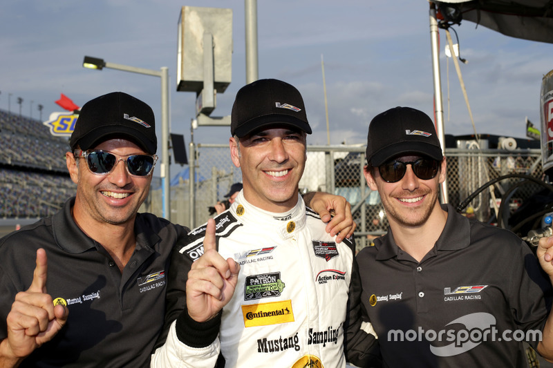 Pole position voor #5 Action Express Racing Cadillac DPi: Joao Barbosa, Christian Fittipaldi, Filipe Albuquerque