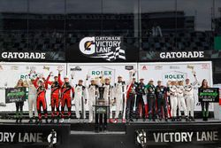 Patron Endurance round winners: James French, Kyle Mason, Patricio O'Ward, Nicholas Boulle, Performance Tech Motorsports, Oswaldo Negri Jr., Jeff Segal, Tom Dyer, Ryan Hunter-Reay, Michael Shank Racing, Ricky Taylor, Jordan Taylor, Max Angelelli, Jeff Gordon, Wayne Taylor Racing, Patrick Pilet, Dirk Werner, Frédéric Makowiecki, Porsche Team North America