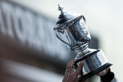 Podium GTLM: second place Patrick Pilet, Dirk Werner, Frederic Wakowiecki, Porsche Team North America and their trophy