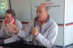 Tarcisio Bernasconi, responsabile delle attività sportive Seat Motorsport Italia e Jaime Puig, dire