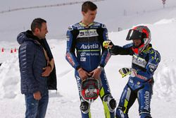 Emilio Zamora, pilote de stunt, avec Loris Baz et Hector Barbera, Avintia Racing