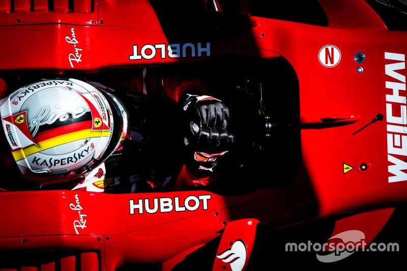 Mardi : Sebastian Vettel, Ferrari SF70H