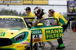 Boxenstopp, #48 Mercedes-AMG Team HTP Motorsport, Mercedes-AMG GT3: Indy Dontje, Marvin Kirchhöfer