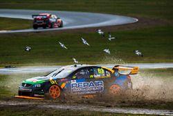 Alex Rullo, Lucas Dumbrell Motorsport Holden runs out
