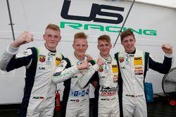 Julian Hanses, US Racing; Fabio Scherer, US Racing; Nicklas Nielsen, US Racing; Kim-Luis Schramm, US