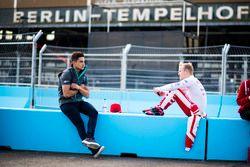 Mitch Evans, Jaguar Racing and Felix Rosenqvist, Mahindra Racing