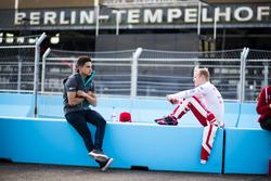Mitch Evans, Jaguar Racing y Felix Rosenqvist, Mahindra Racing