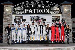 GTLM podium: ganadores, Antonio Garcia, Jan Magnussen, Mike Rockenfeller, Corvette Racing, segundos,