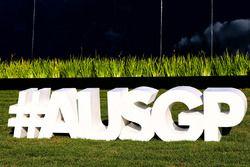 Australian GP hashtag signage