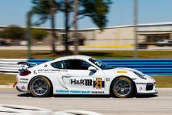#21 Muehlner Motorsports America Porsche Cayman GT4: Kyle Marcelli, Cameron Lawrenc