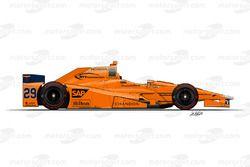 Fernando Alonso, McLaren - Andretti Autosport, Honda
