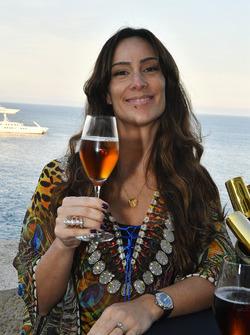Bianca Senna, with Neuschwansteiner beer at the Fairmont Hotel
