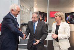Jean Tod, presidente FIA, in visita alla fabbrica Brembo