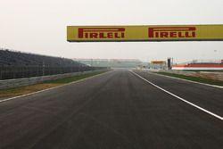Straight between turns 4 and 5, misspelt Pirelli logo