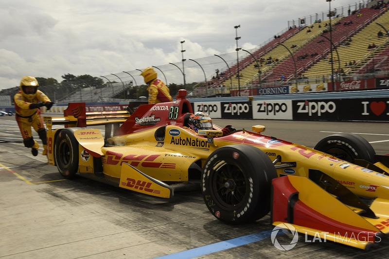 Ryan Hunter-Reay, Andretti Autosport Honda pitstop