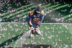 Alexander Rossi, Curb Herta - Andretti Autosport Honda, podium, champagne