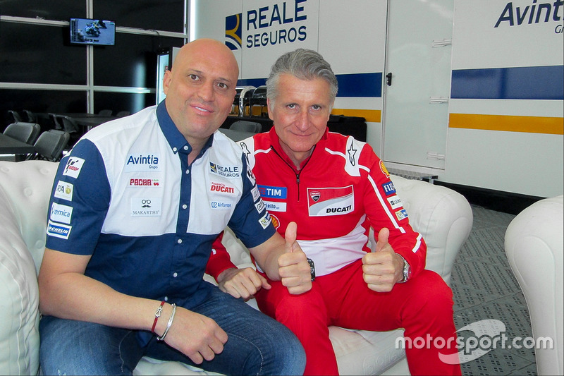 Paolo Ciabatti, Director deportivo de Ducati Corse, Raúl Romero, Director General Esponsorama