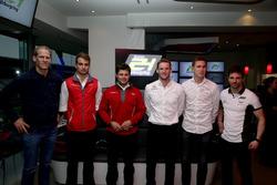 Jörg Bergmeister, Team Falken Motorsport; Nico Müller, Audi Sport Team WRT; Pierre Kaffer, Land Motorsport; Maro Engel, Black Falcon; Nicky Catsburg, Cyan Racing; Christian Mamerow, Bentley Team Abt
