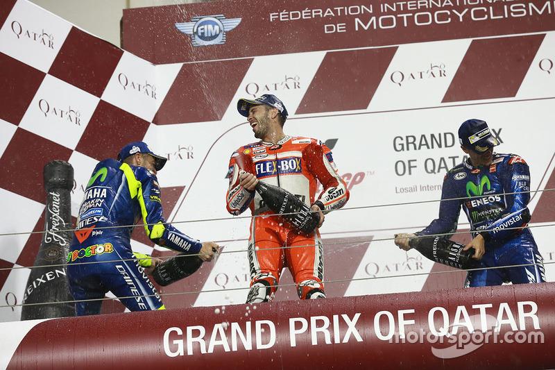 Selebrasi podium MotoGP Qatar 2017