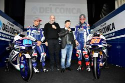 Jorge Martín, Gresini Racing Team and Fabio Di Giannantonio, Gresini Racing Team with Fausto Gresini, Team Manager