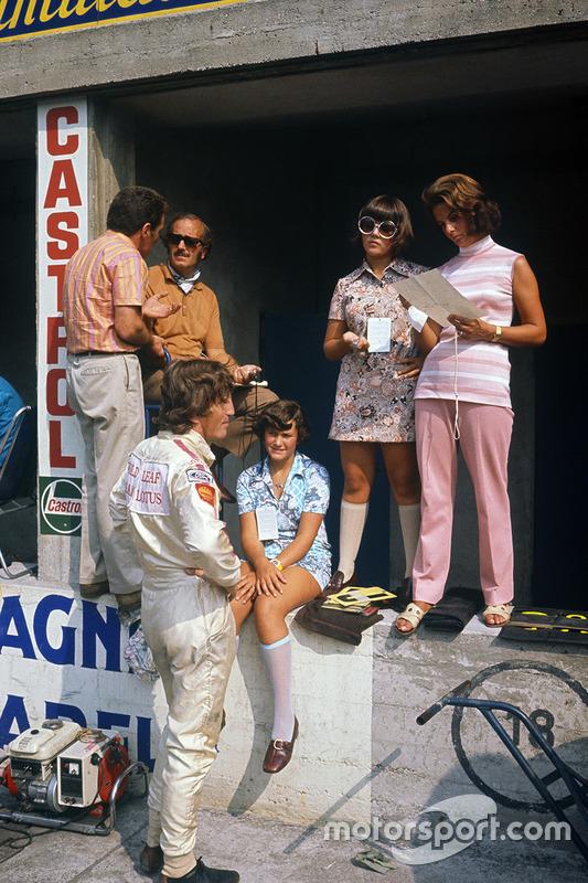 Jochen Rindt, Lotus 72C-Ford y Colin Chapman, Hazel Chapman y sus hijos