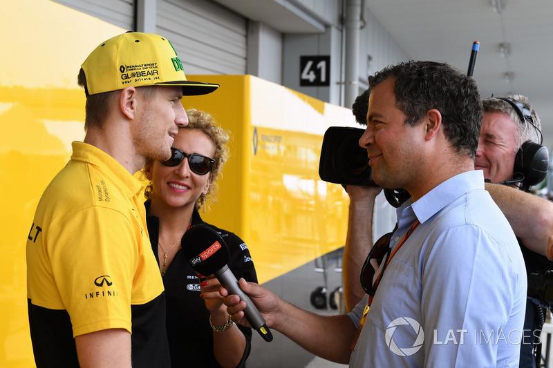 Nico Hulkenberg, Renault Sport F1 Team talks, Ted Kravitz, Sky TV