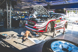 La voiture d'Elfyn Evans, Daniel Barritt, Ford Fiesta WRC, M-Sport