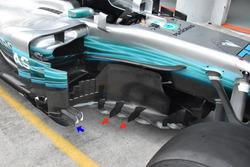 Боковые дефлекторы Mercedes F1 W08