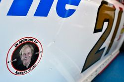 Ryan Blaney, Wood Brothers Racing Ford and Robert Yates decal