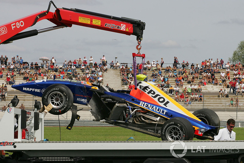 Magny-Cours 2007 : accident d'Ernesto Viso