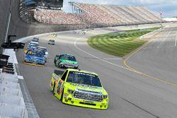 Matt Crafton, ThorSport Racing Toyota, Chase Briscoe, Brad Keselowski Racing Ford, John Hunter Nemec