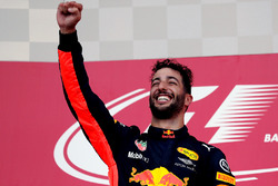 Podium: winner Daniel Ricciardo, Red Bull Racing