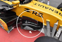 Renault Sport F1 Team RS17, detalle lateral