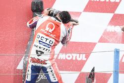 Podium: second place Danilo Petrucci, Pramac Racing