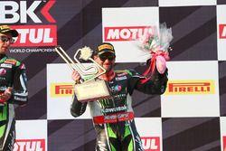 Podium: third place Tom Sykes, Kawasaki