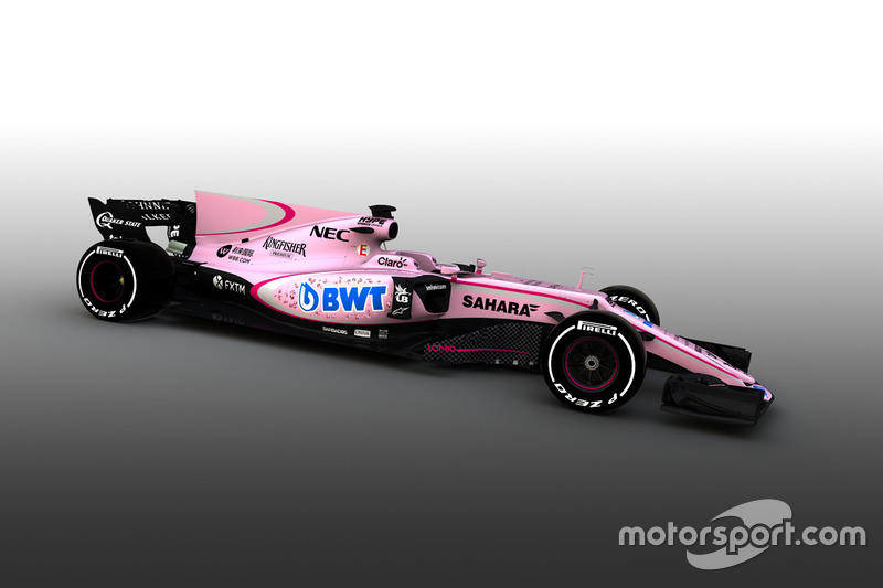 Sahara Force India VJM10 con BWT (2017)