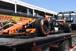 سيارة فرناندو ألونسو، مكلارين هوندا بعد إنسحابه من السباق